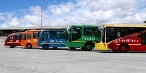 SITP buses in Bogota