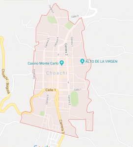 Map of Choachí