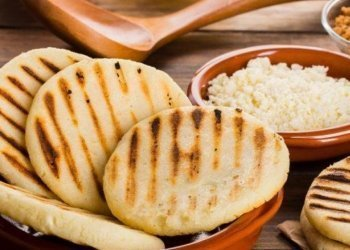 Typical Colombian Arepas