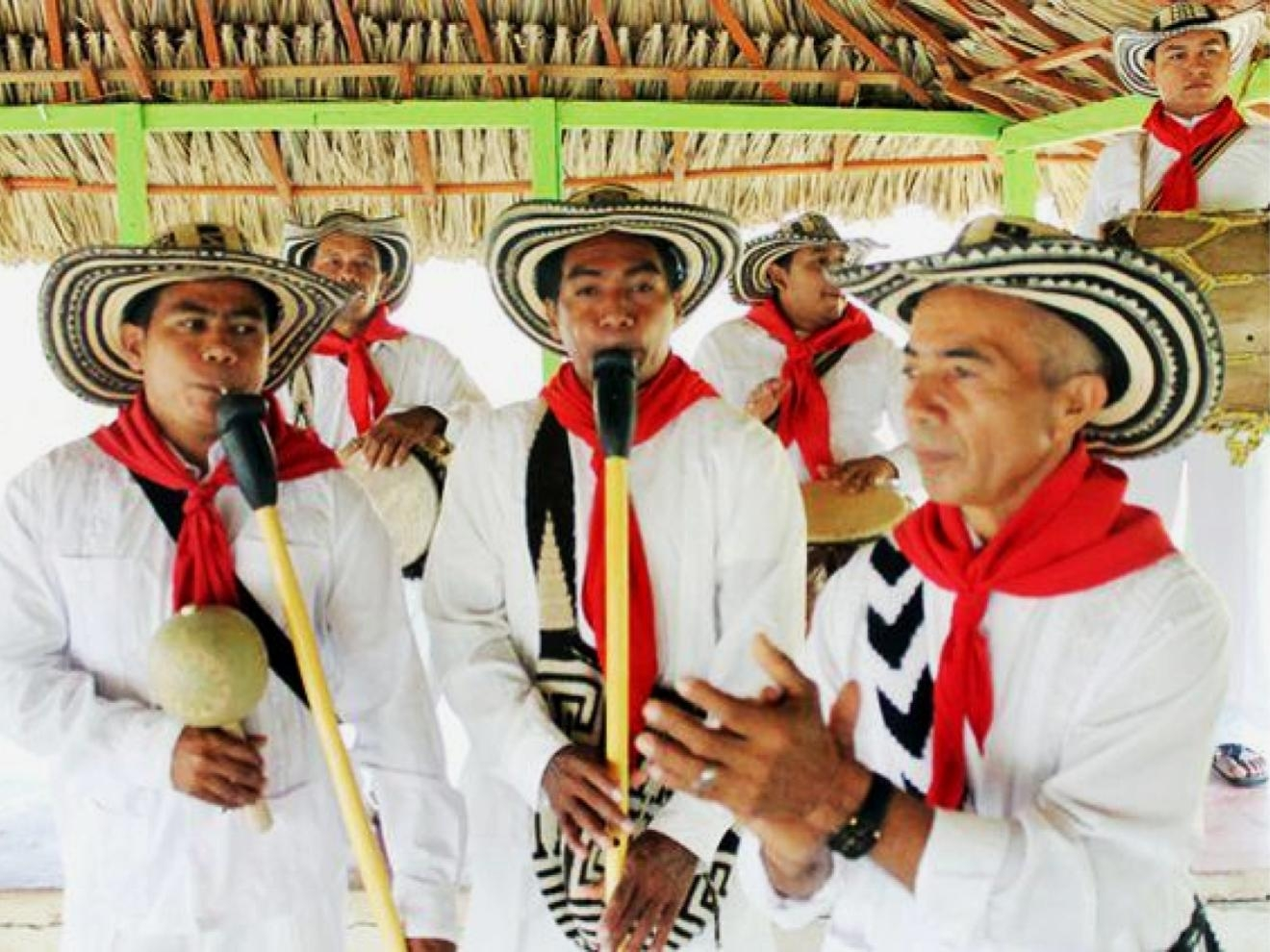 Gaiteros playing the traditional instrument