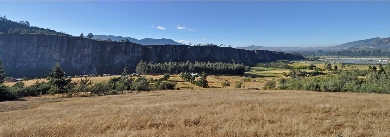 Rock landscape in Suesca