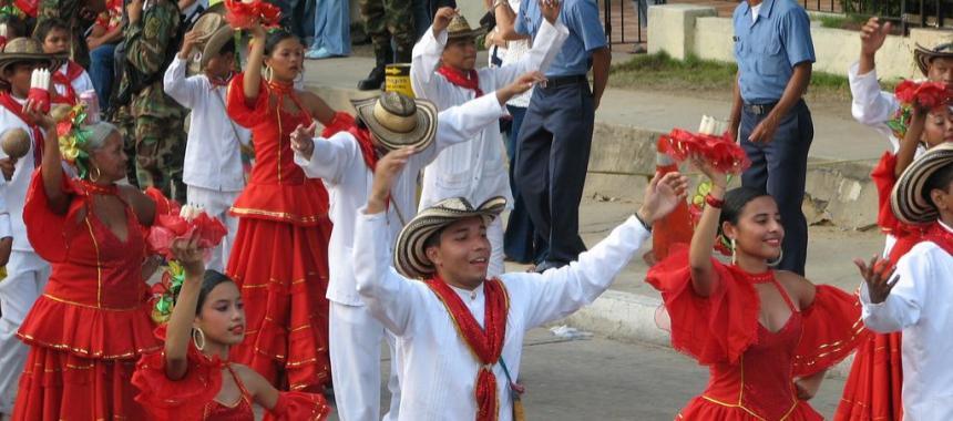 People dancing Cumbia in the Carnival