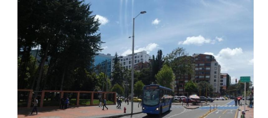 Cycling path in Bogotá