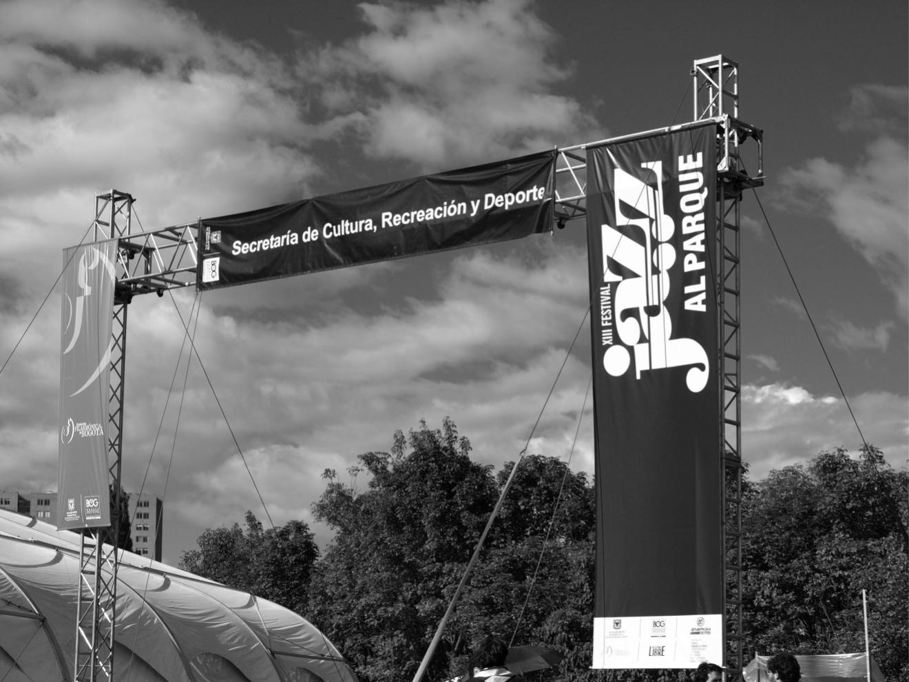 Main entrance and logo Jazz al Parque