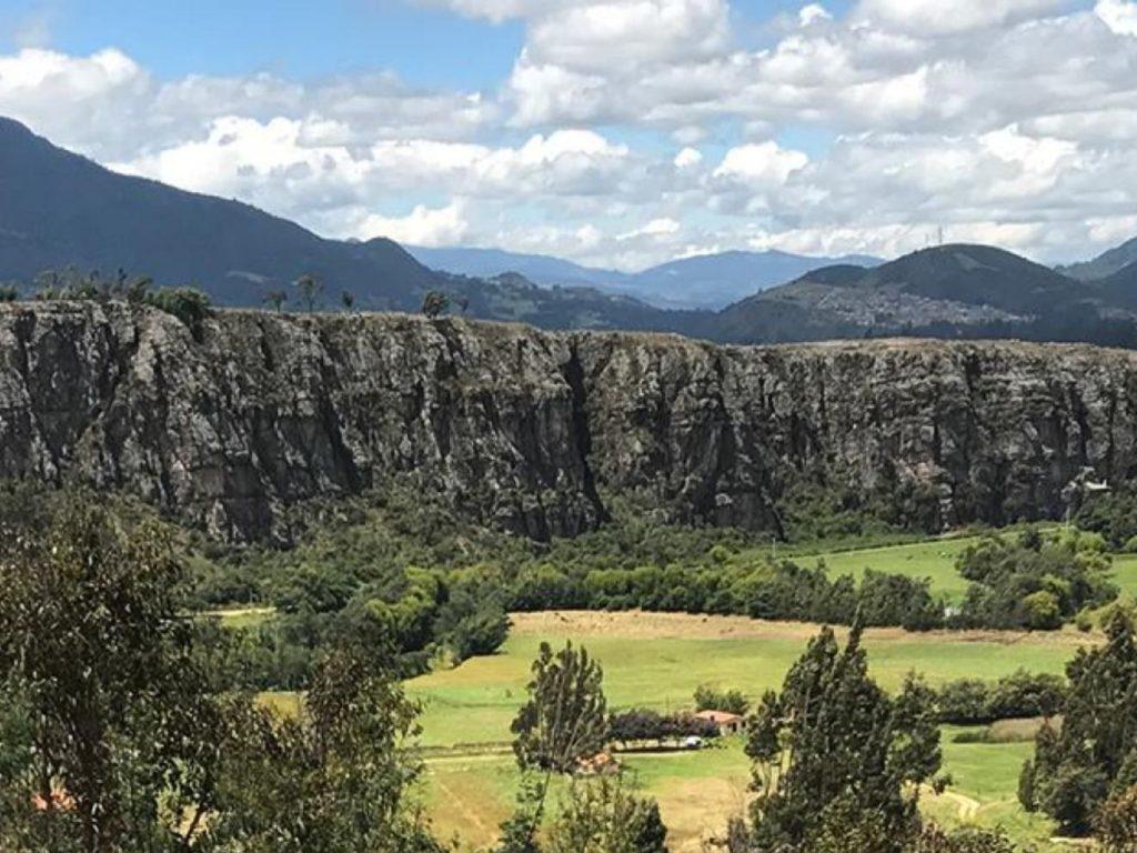 Climbing rocks landscape