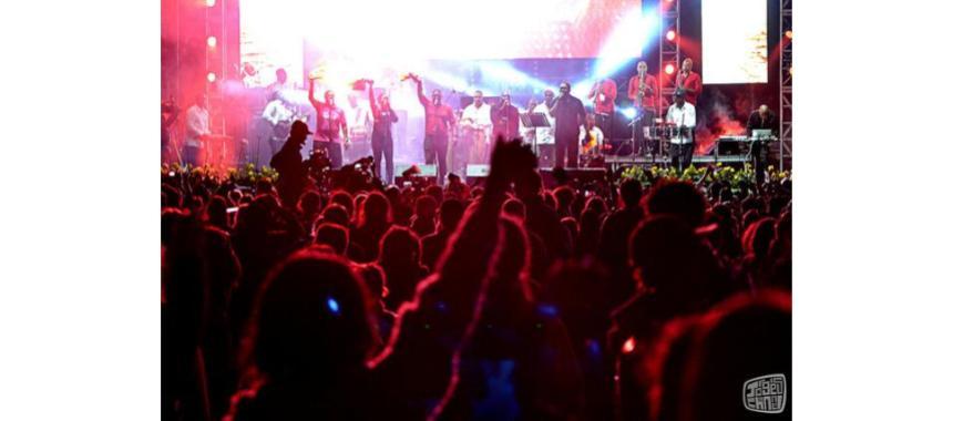 Crowd enjoying a concert in Colombia al Parque