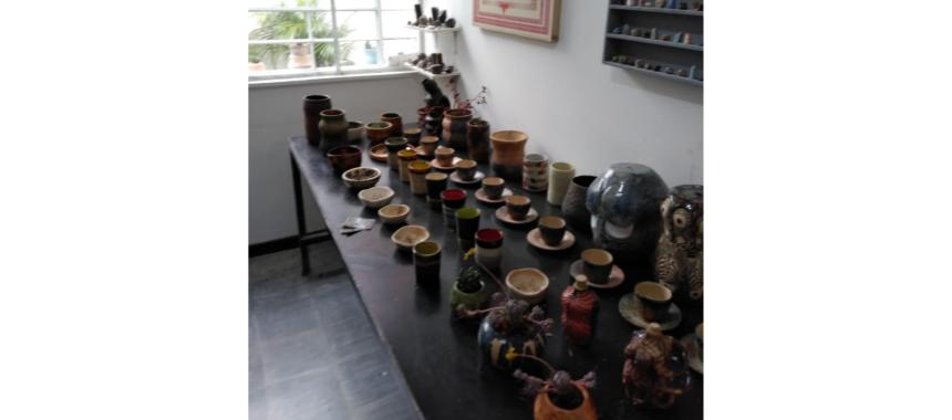 Ceramic workshop at art gallery