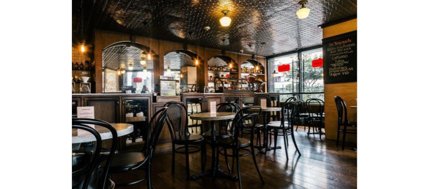 Inside Café devoción in Bogotá
