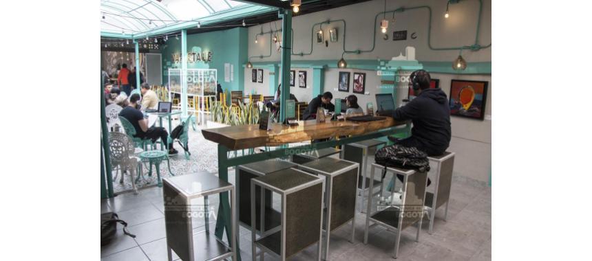 Inside of Varietale café in Bogotá