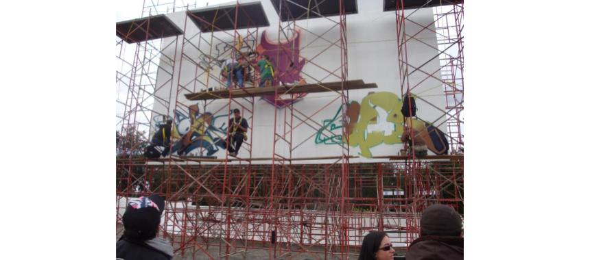 Graffiti artists at Festival Hip Hop al Parque