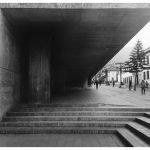 Sidewalk next to Luis Angel Arango's library in Bogotá