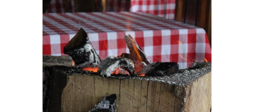 Fireplace in El Refugio