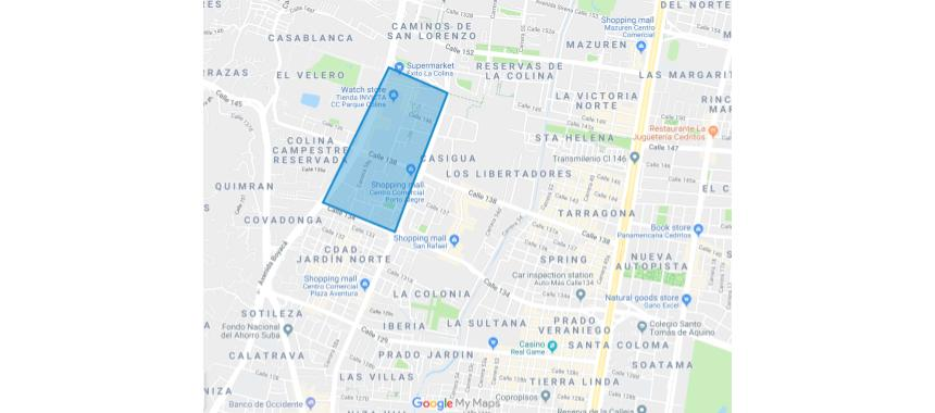 Map Colina Campestre