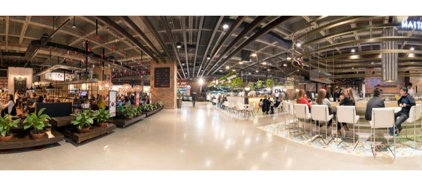 The mall's social food court
