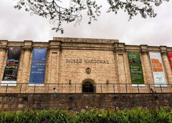 Front facade of National Museum of Colombia