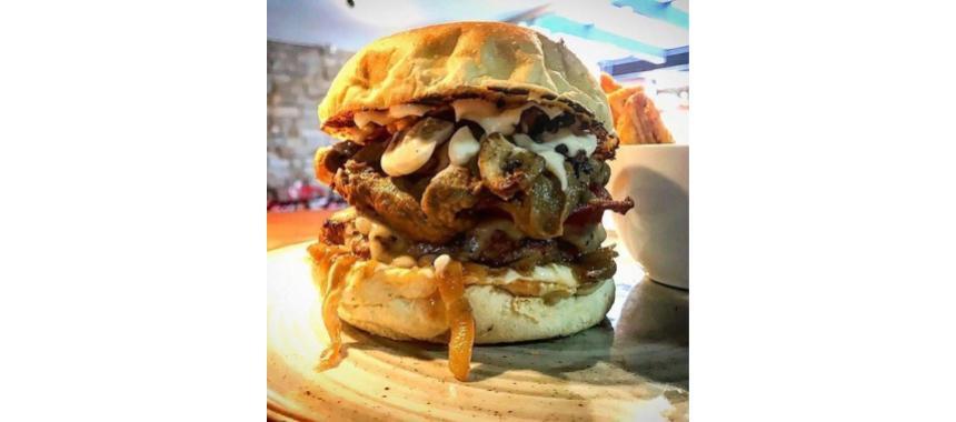 (Mushroom addict burger)