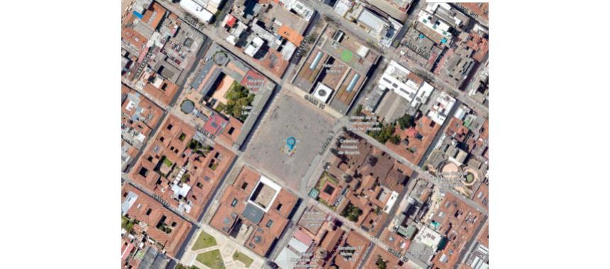 Map of Plaza Bolívar