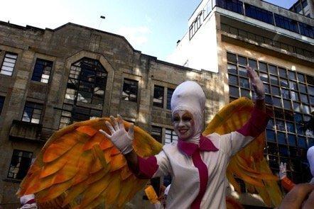 The inauguration parade of Festival de Teatro de Bogotá