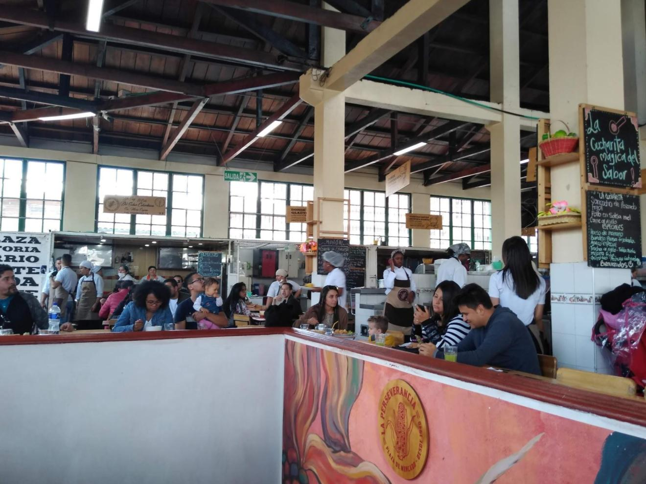 Food court in the Perseverancia Market