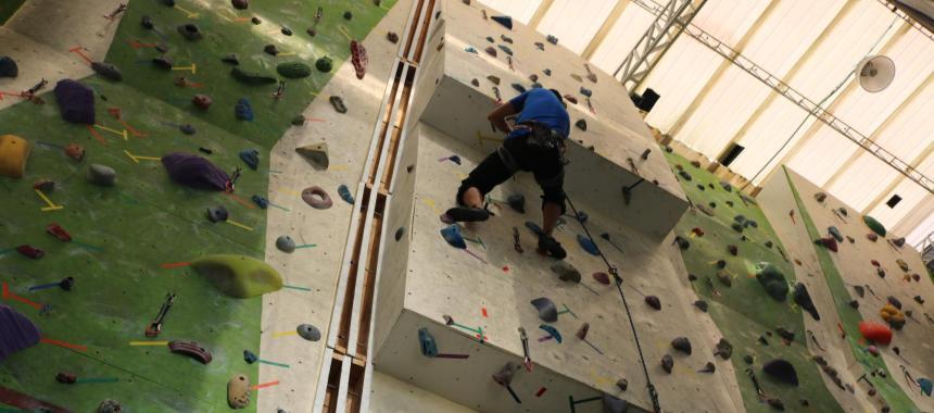 Rocopólis climbing gym in Bogotá