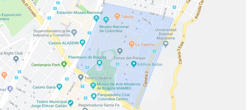 Map of La Macarena