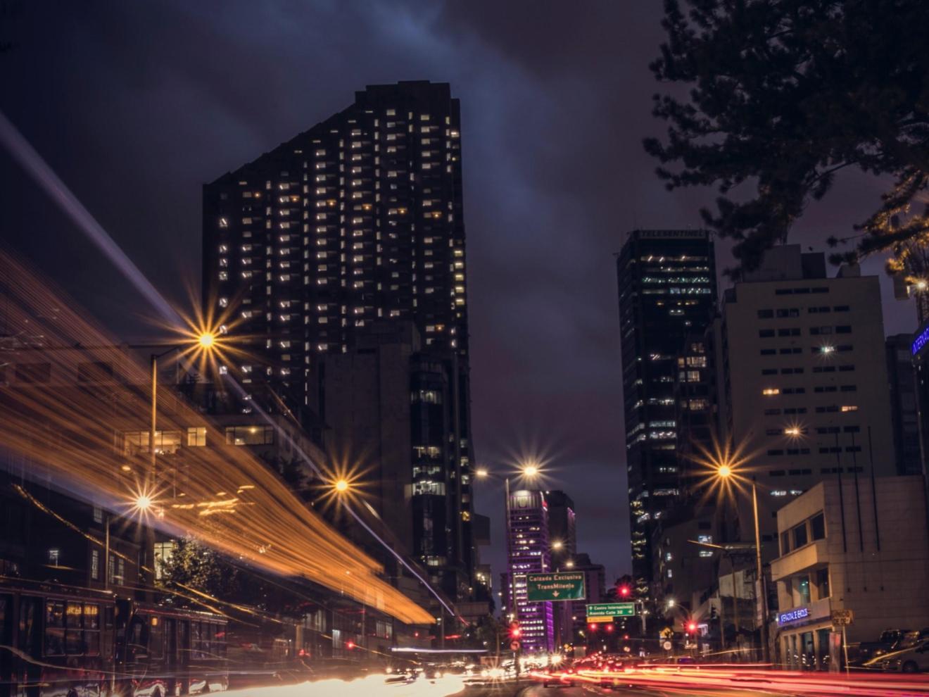 Bogotá at night