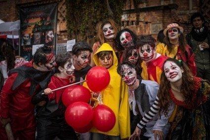 Halloween night in Bogotá
