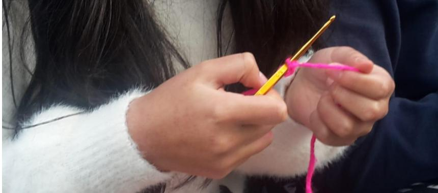 Knitting example Bogotá