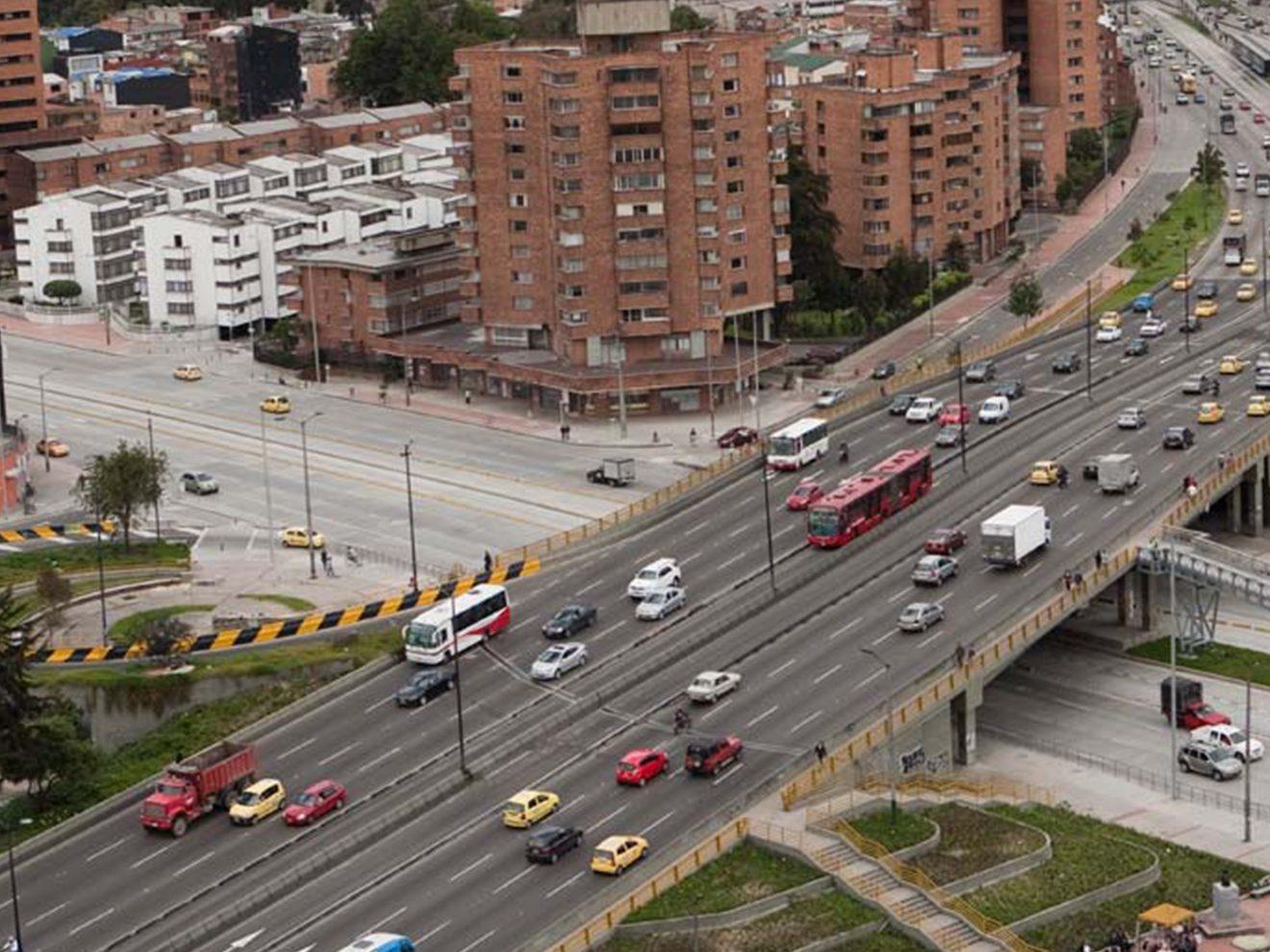 Main streets in Bogotá