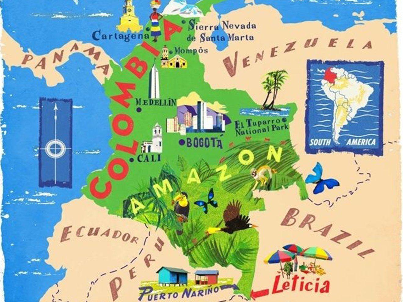Bogotá location